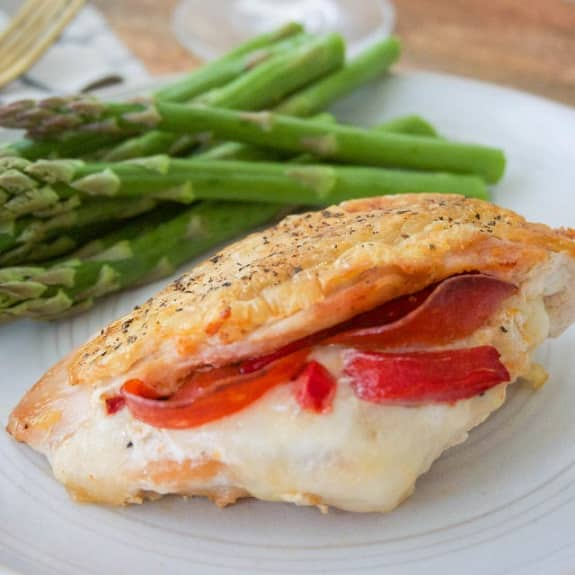 oven grilled stuffed chicken breasts