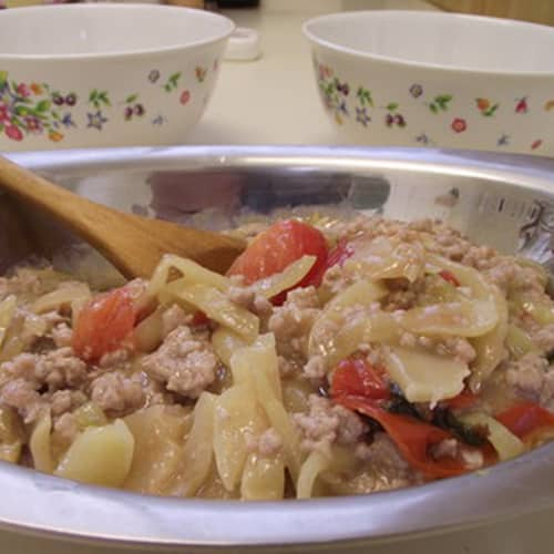 slow cooker chicken with ham