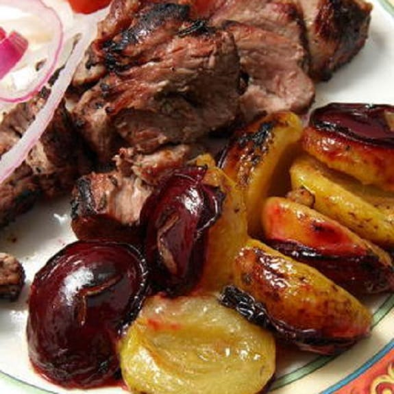 oven cooked lamb with prunes