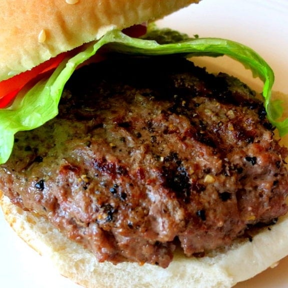 oven grilled burgers