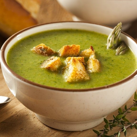 slow cooker asparagus soup