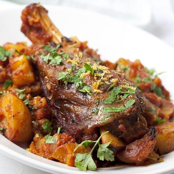 Oven Cooked Lamb Shanks - Magic Skillet
