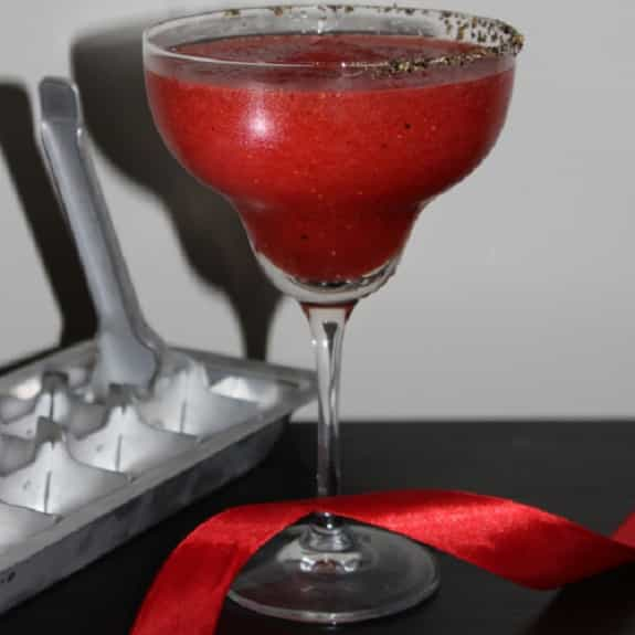 peppered strawberry margarita cocktail