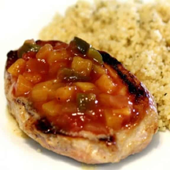 slow cooker pork chops with spiced fruit