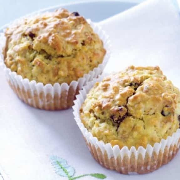 oven baked apple and date muffins