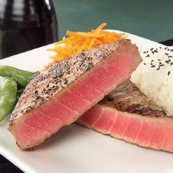 oven baked tuna in white wine