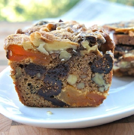 oven baked fruit and nut cake