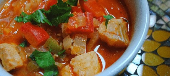 slow cooker fish and vegetable soup