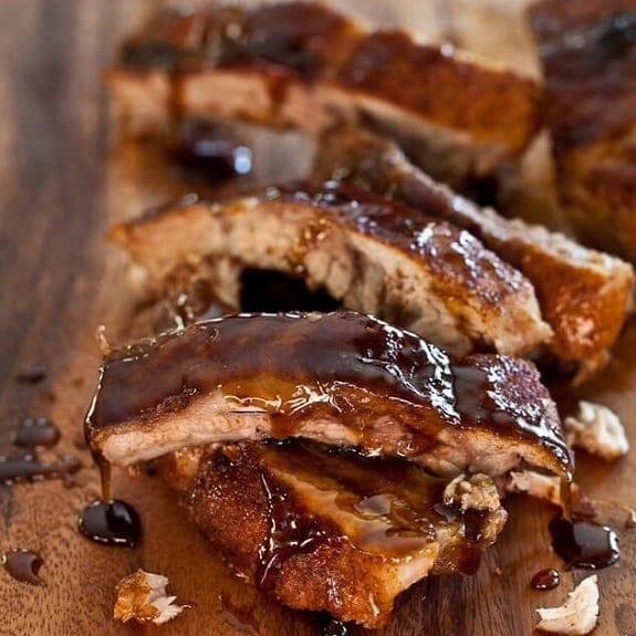 citrus BBQ-glazed ribs