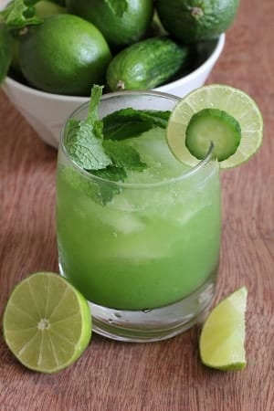 tangy cucumber-mint cocktail