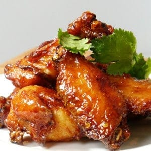 fried chicken wings in soy sauce