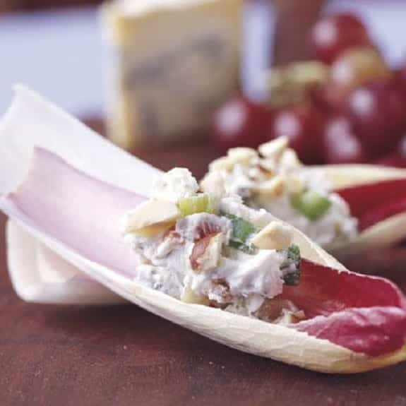 apple and blue cheese stuffed endives