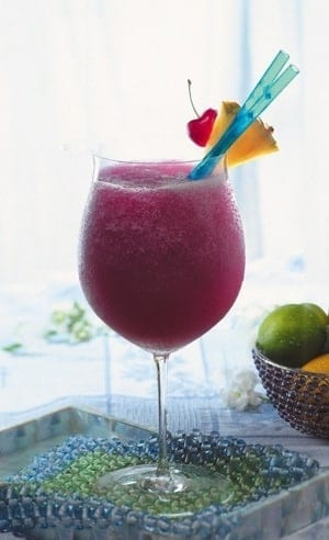 pomegranate margarita cocktail