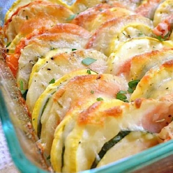 oven baked cheesy vegetables