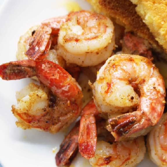 island pan-barbecued shrimp