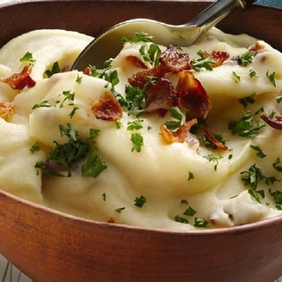 mashed potato with bacon