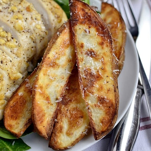 oven baked Parmesan potatoes