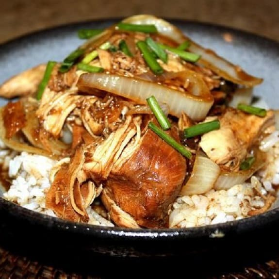 slow cooker soy balsamic chicken
