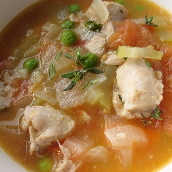chicken and white wine stew