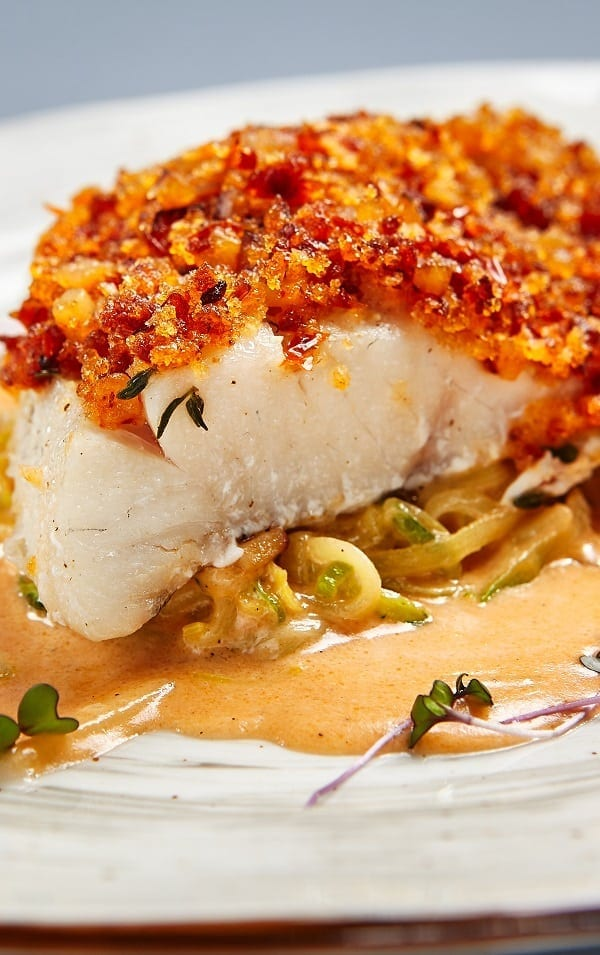 Oven baked cod with gremolata breadcrumbs magic skillet for Baking cod fish