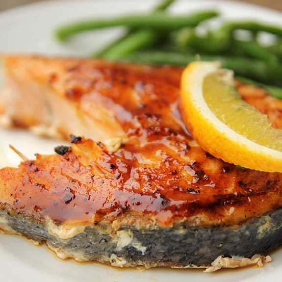 oven baked lemon pepper salmon steak