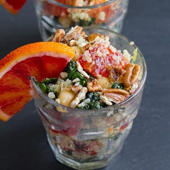 blood orange,quinoa and kale salad
