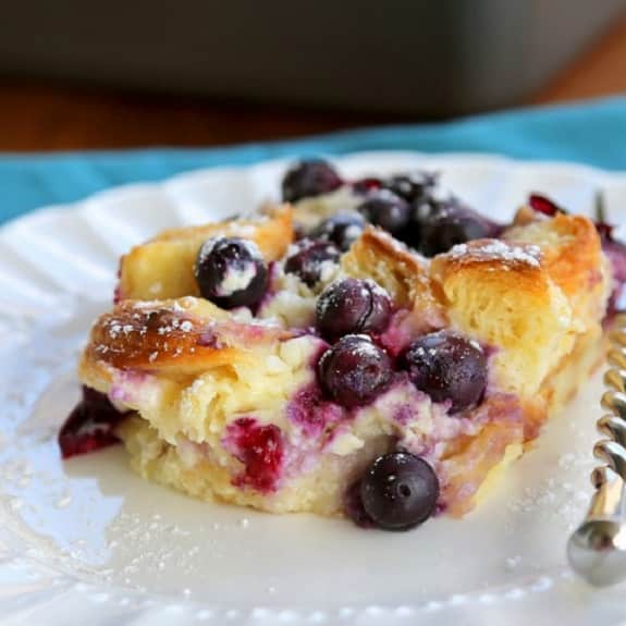 oven baked blueberry puff