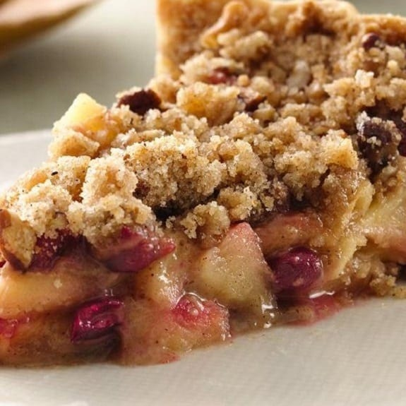 slow cooker apple-cranberry tart