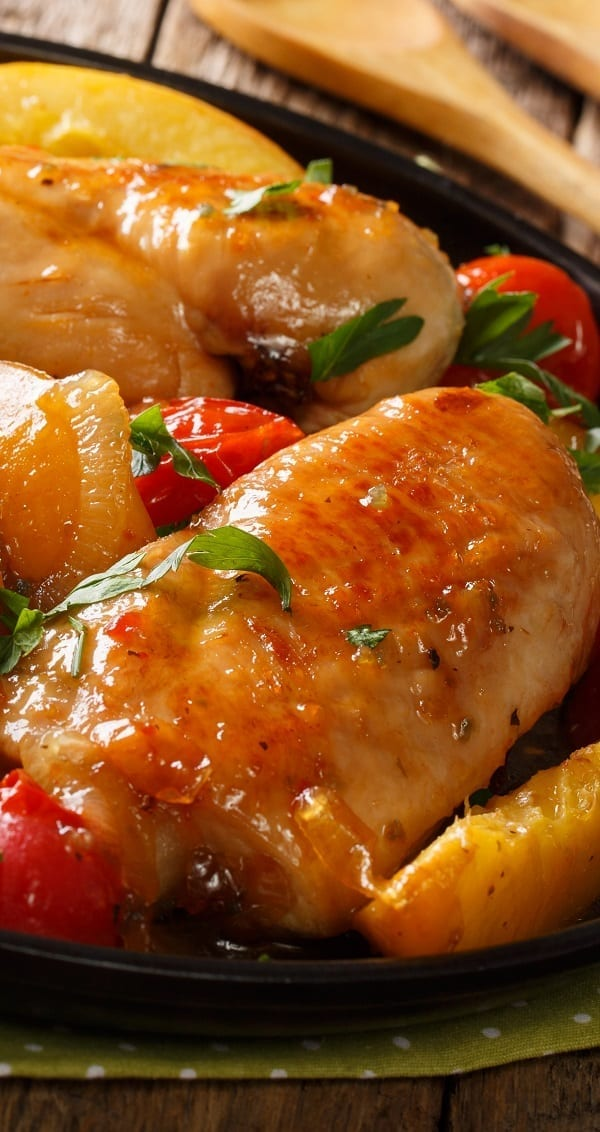 oven baked honey-chipotle chicken breasts