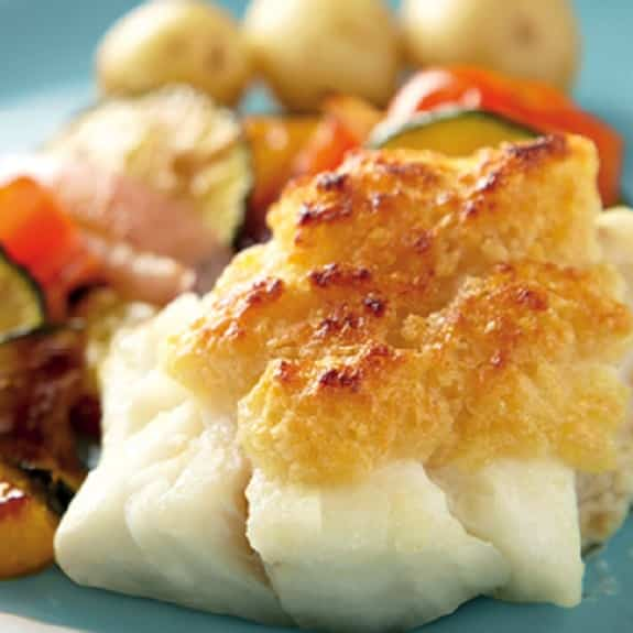 chessy grilled cod