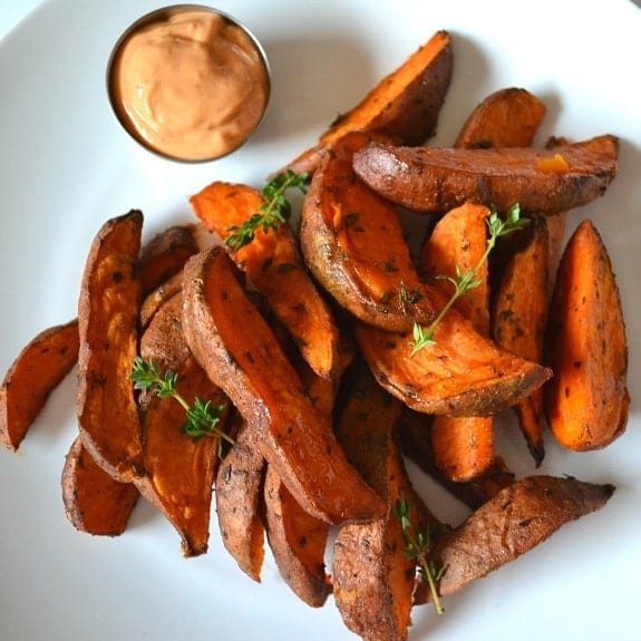 oven baked cajun sweet potatoes