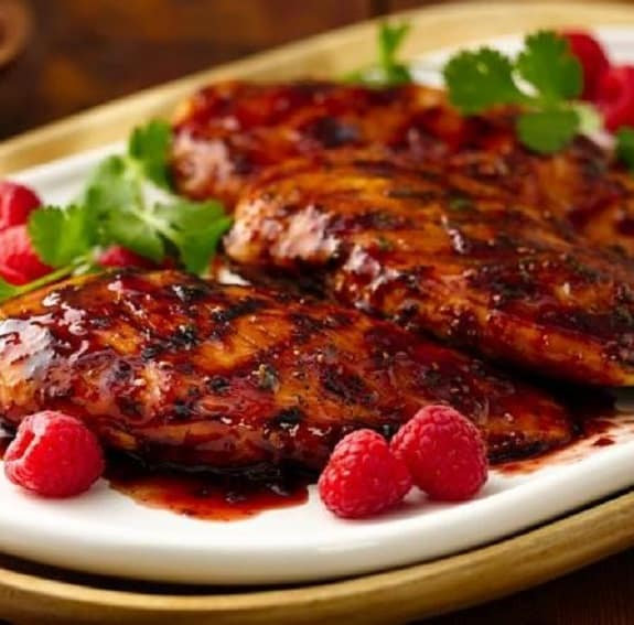 pressure cooker chicken breasts with raspberry vinegar