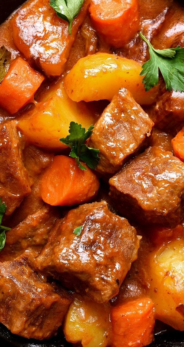 pressure cooker pork ragout with root vegetables