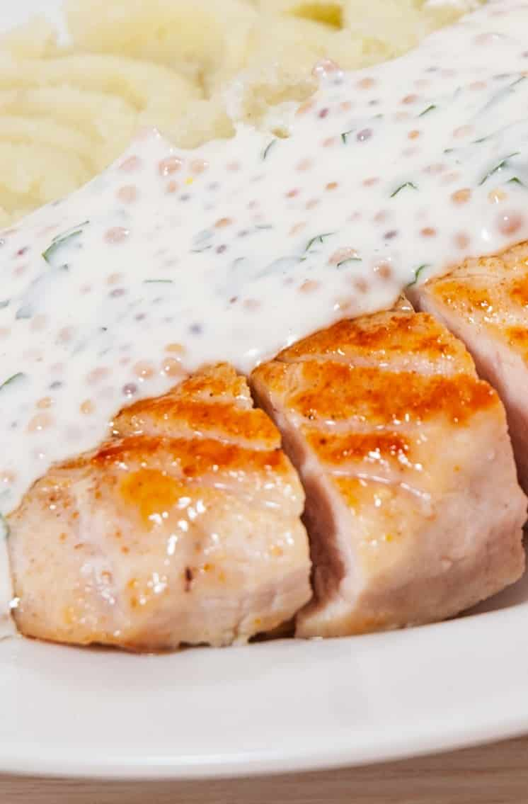 oven baked creamy mustard chicken breasts