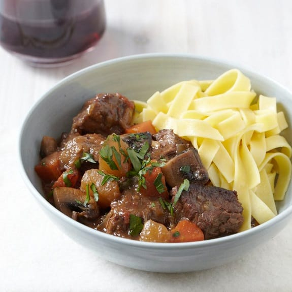 pressure cooker beef stew with turnips and mushrooms