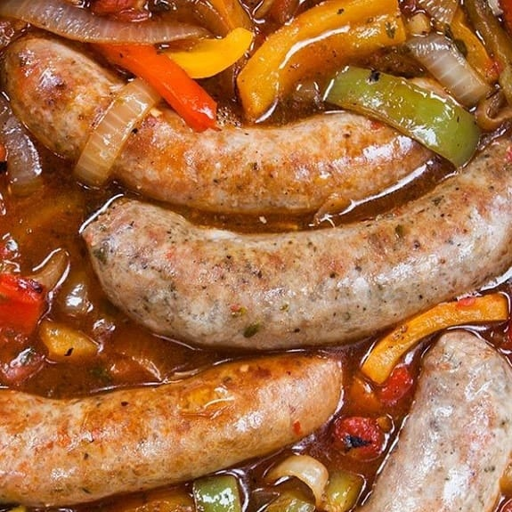pressure cooker italian sausages with onions and peppers