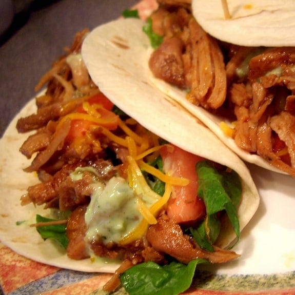 slow cooker simple pork tacos