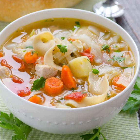easy crock pot chicken vegetable soup recipe