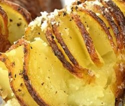 Accordion potatoes recipe.Classic accordion potatoes baked in a halogen (turbo) oven. #halogenoven #turbooven #dinner#lunch #homemade #easy #vegetarian #delicious #yummy #recipes #food