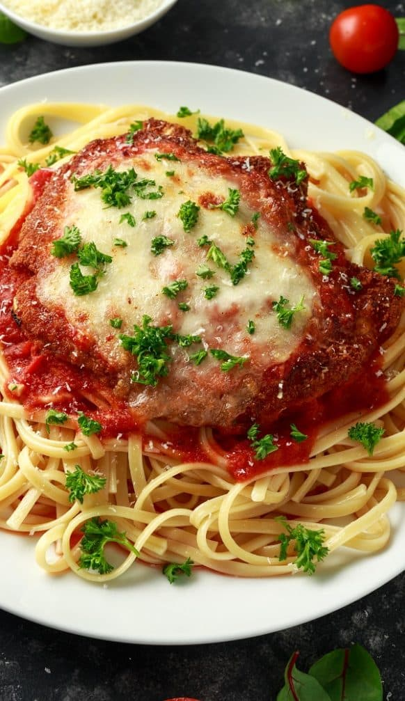 Fried Easy Veal Parmigiana Recipe #veal #italian #dinner #lunch #homemade