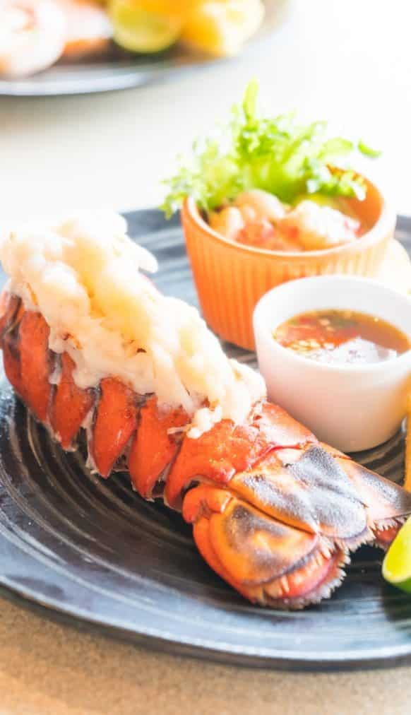 Best Broiled Lobster Tail Recipe #dinner #seafood #lobster #shellfish #homemade #delicious