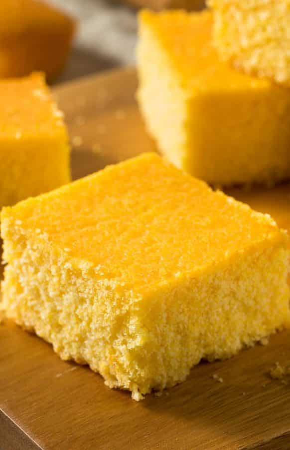 Slow cooker easy cornbread from scratch recipe. Very delicious cornbread cooked in a slow cooker. #slowcooker #crockpot #cornbread #desserts #dinner #homemade #healthy