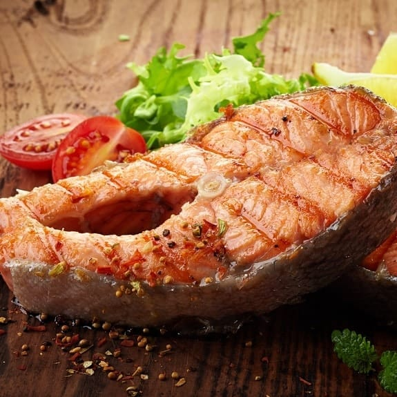 grilled salmon steak recipe