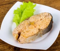 poached salmon steak recipe