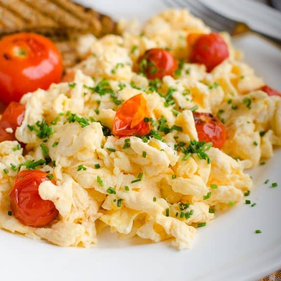 scrambled eggs with herbs recipe