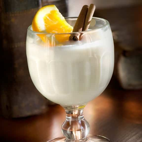 alcoholic cocktail with milk