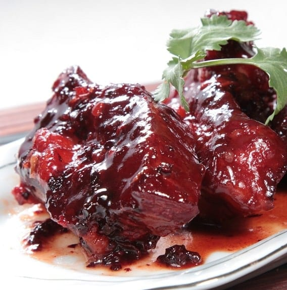 roast duck breasts with blackberry sauce