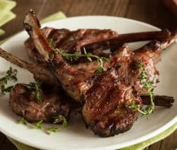 grilled lamb chops with lemon and basil