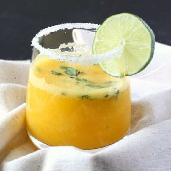 mango-cilantro margarita cocktail
