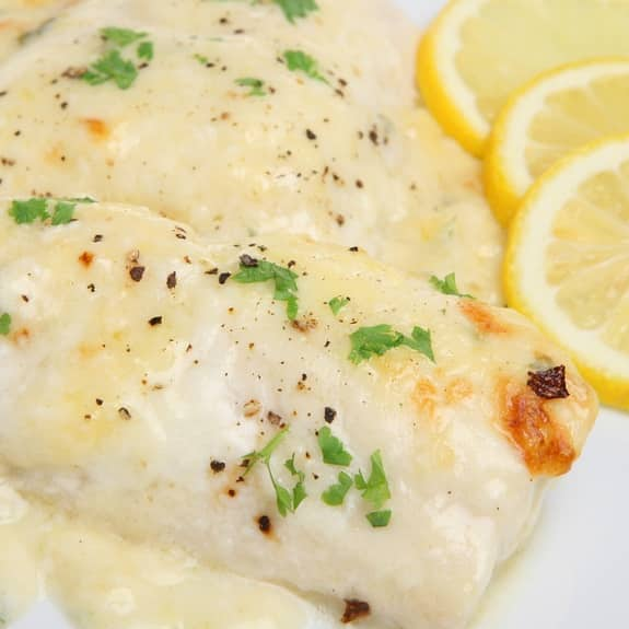 broiled haddock fillets with lemon sauce